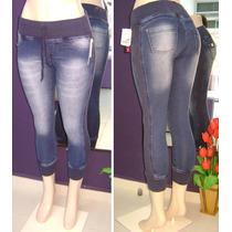 Calça Jeans Cropped Punho W.pink