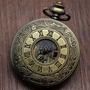 Reloj De Bolsillo Color Bronce Vintage Cuerda+cadena Regalo