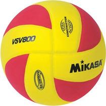 Mikasa Squish Vsv800 Al Aire Libre Voleibol Amarillo / Rojo