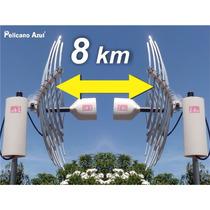 Enlace Punto A Punto De Internet 8 Km Combo Antena Wifi