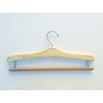 Cabide De Madeira Exclusivo Para Saia E Calça E Barra Marfim