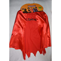Disfraz De Niña , Diablo, Capa Vestido Talla 4-6