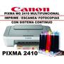 Impresora Canon Mg2410 Con Sistema De Tinta Continua