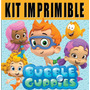 2x1 Bubble Guppies Kit Imprimible Invitaciones + Regalo