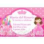Tarjetas Invitación Cumpleaños Infantiles Personalizadas
