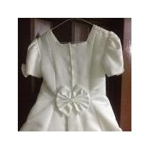Vestido De Comunion De Tela Importada Color Blanco