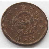 1/2 Sen, Moneda Antigua De Japon Del Año 1884, Excelente!