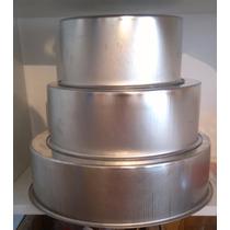 Set 3 Moldes Para Tortas Altas 18cm 24cm Y 32cm Torta Bodas