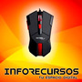 Mouse Gamer Strike Scroll Luminoso 2400 Dpi - Netmak