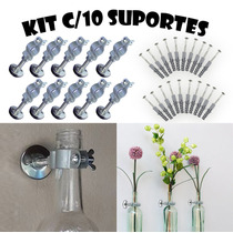 Suporte P/ Pendurar Vasos De Garrafas - Kit Com 10 Unidades
