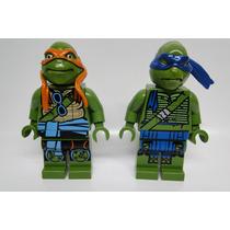 Bonecos Lego Gigante Tartarugas Ninja- Kit Com 2