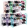 Sapateira Estante Retrátil Porta Sapato Organizador 16 Pares