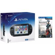 Psvita Ps Vita Sony Wi-fi Slim + Game Assassins Creed Iii 3