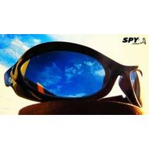 Óculos De Sol Spy Original - Mod Crato 42 Preto Lente Azul