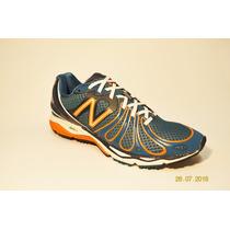 Zapatillas New Balance M890 V3 Azul C/naranja