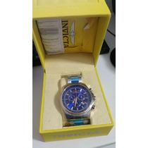 Relógio Invicta Importado Fundo Azul Safira Original