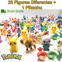 Pokemon 24 Figuras Diferentes Lote Azar Pikachu Pokeball