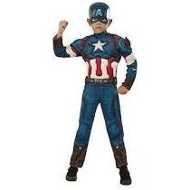 Disfraz Niño Capitan America Rubies Musculos Tallas