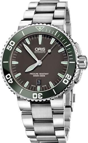 c9d8c4004e7 Relógio Oris Aquis 73376534137mb Automatico 43mm Original - R  11.979