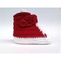 A205 Sapatinho De Croche Vermelho Masculino Botinha Tenis