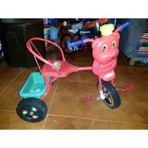 Triciclo Montable Metal De Pedal En Rojo Para Bebe