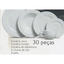 Aparelho De Jantar 30 Peças Branco Frete Gratis Promoçâo!!!
