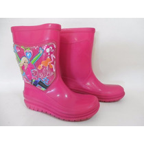 Botas Hule Lluvia Niña 16cm Planta Barbie D939