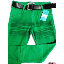 Calça Jeans For Use Masculina Verde Com Lycra - Frete Grátis