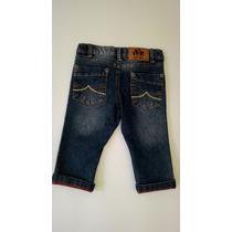 Calça Jeans Menino Tam 6-9 Meses