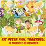 Kit Imprimible Pack Fondos Peter, Tinkerbell Clipart