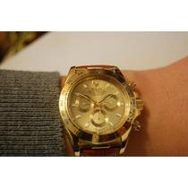 Relógio Daytona Dourado Automático Safira Qualidade Superior