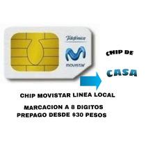 Chip Movistar De Casa Linea Local 8 Digitos