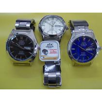 Relógios Oremte Calendário Duplo ! Maquina Japonesa !