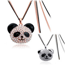 Regalo Oso Panda Moda 2015 Collar Swarovski Element Oferta!!