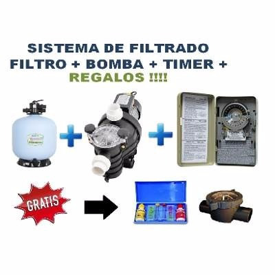 Sistema kit filtrado albercas piscinas bomba filtro timer for Piscina follando