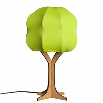 Lámpara Arbol Verde Luz Multicolor Control Remoto Foco Led