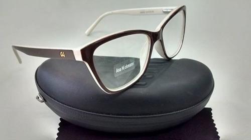 793ad977b Armação Oculos De Grau Estilo Gatinho Ana Barata Feminina !! - R$ 69,00 em  Mercado Livre