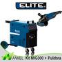 Kit Maquina De Soldar / Elite Mig300 + Pulidora