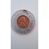 Moneda Americana De Un Centavo Del Año 1955 D