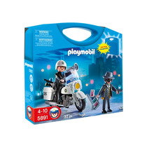 Playmobil Policía Maleta 5891 Playset 4 A 10 Años