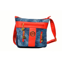 Cartera Jeans Bellagio Bags Color Rojo