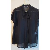 Blusa Camisa Fiesta O Informal Negra -made In India-
