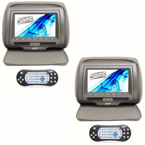 Par Dvd Encosto Cabeça Monitor Tela 7 Pol Jogos Usb Sd Zíper