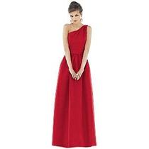 Vestido De Gala Talla S Color Rojo Vino Importado