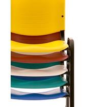 Sillas Plasticas Oficina Apilables Patas Metálicas. Colores