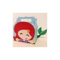 10 Cajas Lonchera Grandes Dulceros Princesa Ariel Sirenita