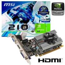 Tarjeta De Video 1gb Ddr3 Msi Geforce 210