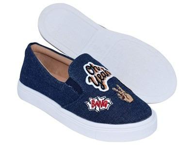 d7f6f010de Slip On Menina Rio Jeans - R  164