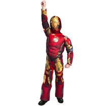 Disfraz Musculoso De Iron Man Para Niño 8 Años Origin Marvel