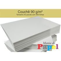 Papel Couchê 90 G/m² - A3 - Pacote Com 500 Folhas